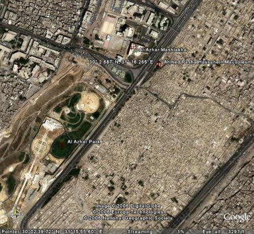 Location of the Mausoleum of Hassanein Bey (Pasha) by Hassan Fathy